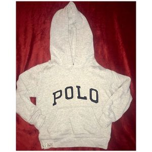 Boys Polo Pullover Hoodie